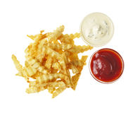 French fries on the white isolated background Stock Photo