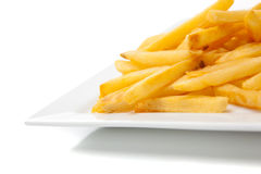 French fries on a white plate Royalty Free Stock Photos