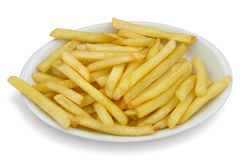 French Fries. On a white plate Stock Photography