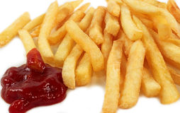 French fries witch ketchup Royalty Free Stock Image