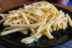 French Fries With Parsley Royalty Free Stock Images