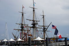 French Frigate Hermione 2014 3 Royalty Free Stock Images