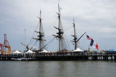 French Frigate Hermione 2014 8 Royalty Free Stock Images