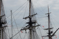 French Frigate Hermione 2014 10 Royalty Free Stock Photo