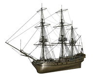 French frigate Medusa, 1810 - 3D render Stock Photos