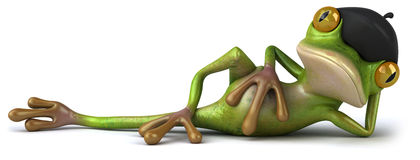 French frog Royalty Free Stock Photography