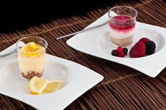 French fruit desserts Royalty Free Stock Photography