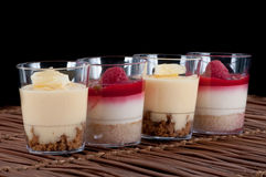 French fruit desserts Royalty Free Stock Photos