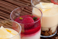 French fruit desserts Royalty Free Stock Photo