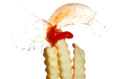 French Fry Burst Royalty Free Stock Photos
