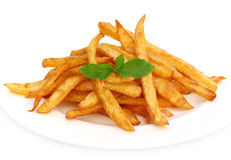 French fry with mint leaves Stock Photo
