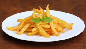 French fry with mint leaves Stock Images