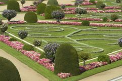 French garden stock image