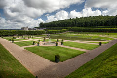 French garden in Chateau de Villandry Stock Image