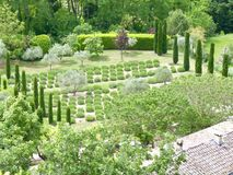 French garden in Menerbes Royalty Free Stock Images