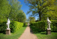 French garden in Moscow Stock Photo