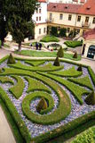 French gardens in Prague Royalty Free Stock Photos