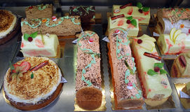French gateaux. A selection of french gateaux royalty free stock images