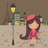 French girl Stock Images