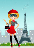 French girl Stock Photography