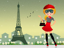 French girl Royalty Free Stock Image