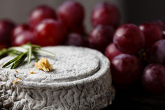 French Goat cheese with grape Royalty Free Stock Photo