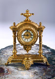 French Gold Clock. Royalty Free Stock Photography