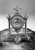 French Gold Clock in black and white. Royalty Free Stock Photos