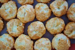 French gougeres cheese puff choux royalty free stock photos