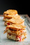 French gourmet strawberry mille feuille Stock Photos