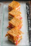 French gourmet strawberry mille feuille Stock Photo