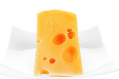 French gourmet triangle of parmesan Royalty Free Stock Photography