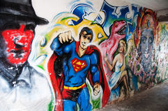 French Graffiti in Vannes, France Stock Images