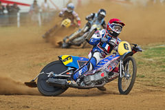 French grasstrack rider Royalty Free Stock Photos
