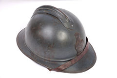 WW1 French Great War steel helmet Stock Photography