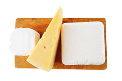 French and greek cheeses Royalty Free Stock Photo