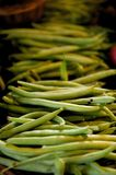 French green beans for sale on a market stall Stock Photos