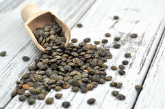 French Green Lentils Royalty Free Stock Images
