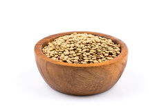 French green lentils in bowl Stock Image