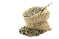 French green lentils (lentilles du Puy) Royalty Free Stock Images
