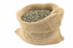 French green lentils (lentilles du Puy) Royalty Free Stock Photo