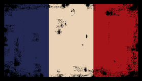 French grunge flag vector Stock Images