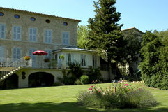 French guest house. With garden in summer Royalty Free Stock Photos