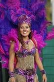 French Guiana Annual Carnival. A beautiful Brazilian dancer participated in the main carnival parade in Kourou, French Guiana Stock Photo