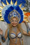 French Guiana carnival. A beautiful Brazilian dancer participated in French Guiana's Annual Carnival Stock Photos