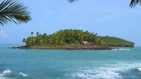 French Guiana, Iles du Salut (Islands of Salvation): Devils Island. The Îles du Salut (Islands of Salvation) are a group of three small islands about 6.8 miles Royalty Free Stock Image