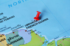 French guiana map Stock Photos