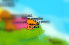 French Guiana, officially called Guiana. This country is a overseas department and region of France Stock Photos