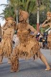 French Guiana's Annual Carnival 2011. KOUROU, FRENCH GUIANA - FEBRUARY 27: A mysterious parade-goer participates in French Guiana's Annual Carnival February 27 Stock Photos