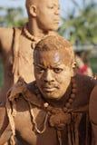 French Guiana's Annual Carnival 2011. KOUROU, FRENCH GUIANA - FEBRUARY 27: A mysterious parade-goer participates in French Guiana's Annual Carnival February 27 Stock Photo